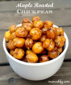 maple roasted chickpeas