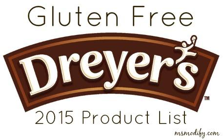 gluten free Dreyers list 2015