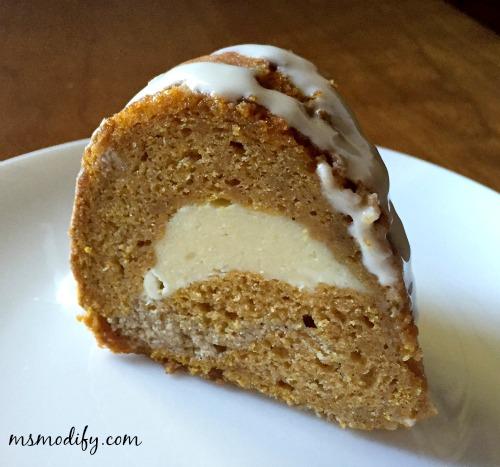 cream cheese filled pumpkin bunt cake