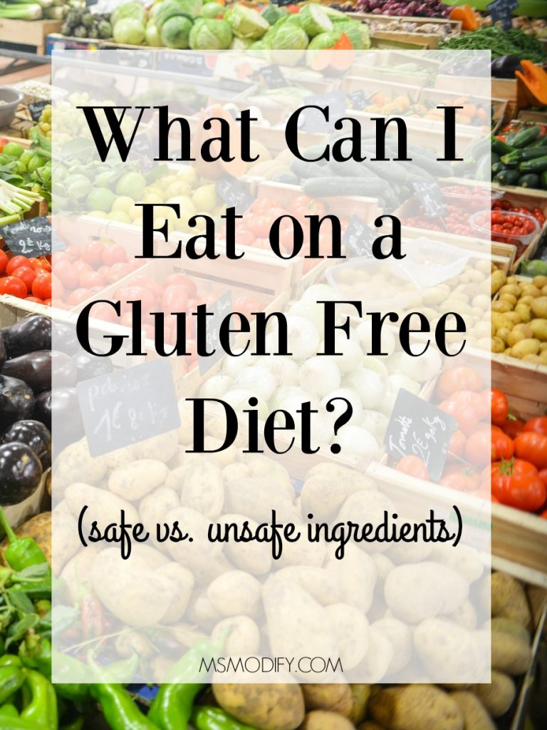 What can I eat on a gluten free diet?