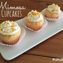 gluten free mimosa cupcakes