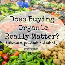 does buying organic really matter