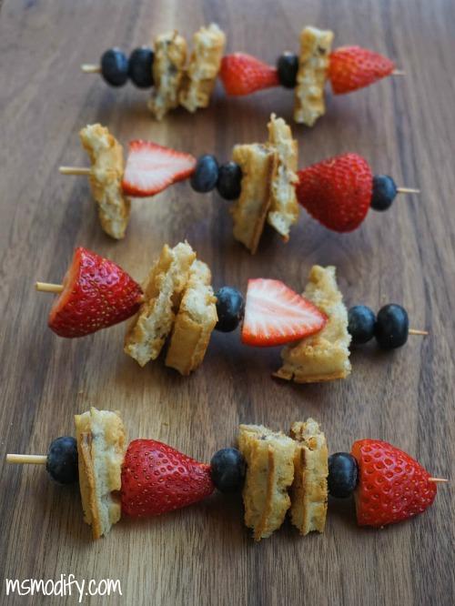 waffle kabobs