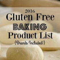2016 gluten free baking product list