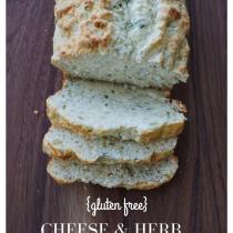 gluten free cheese & herb bread