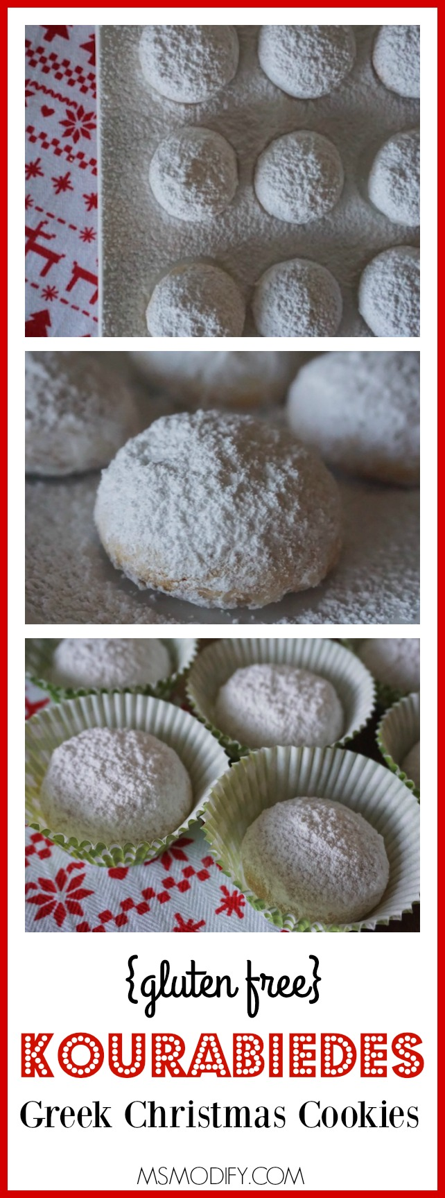 {gluten free} Kourambiedes - Greek Christmas Cookies
