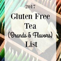 gluten free tea list