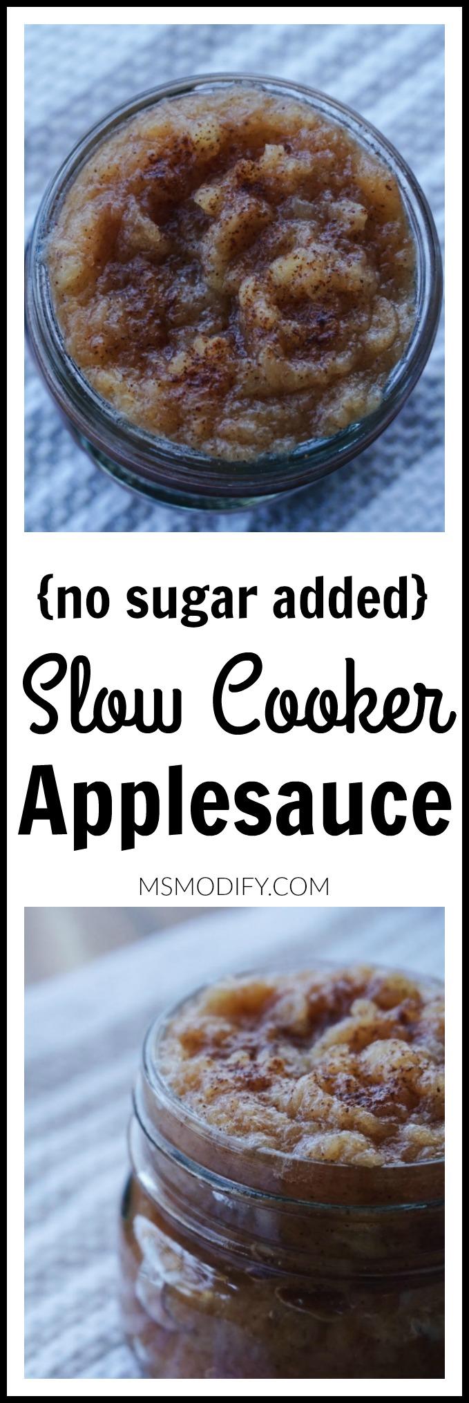 no sugar added slow cooker applesauce