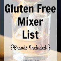 Gluten free mixer list