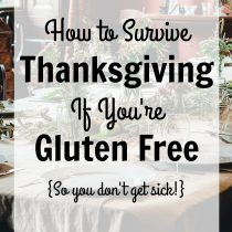 Tips for Surviving Thanksgiving if You're Gluten Free