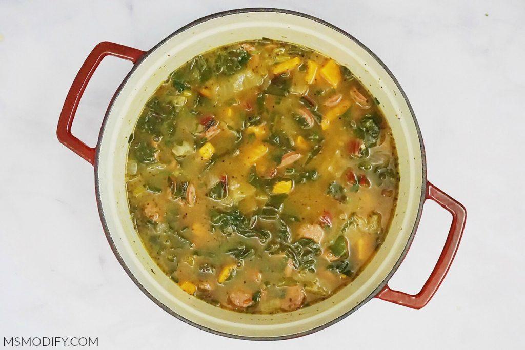 Sausage Sweet Potato Chard Soup