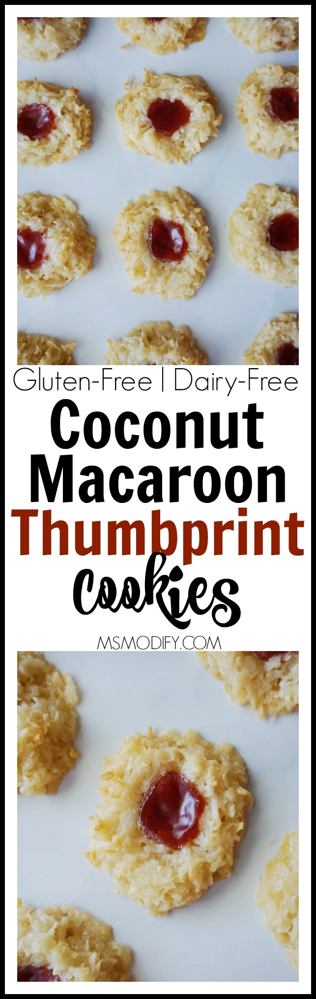 Coconut Macaroon Thumbprint Cookies