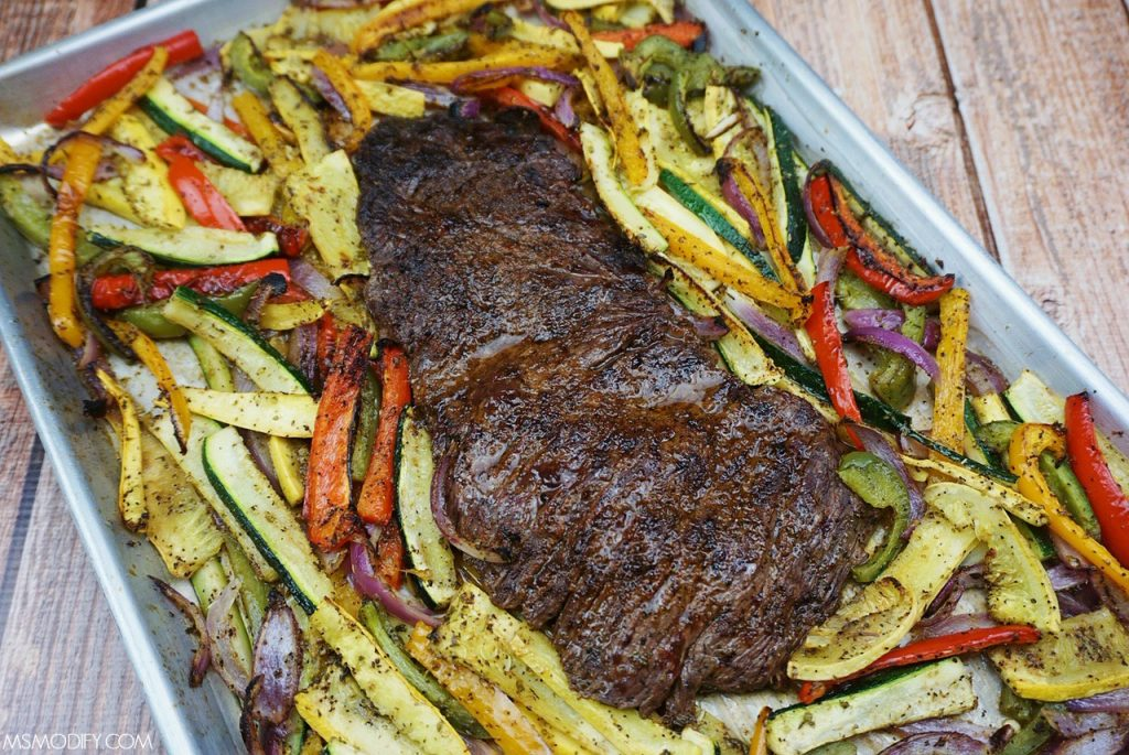 Sheet Pan Steak Fajitas