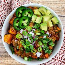 Slow Cooker Sweet Potato Chili