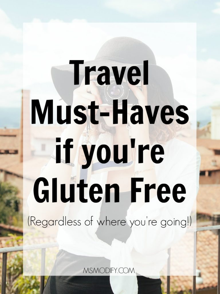 Travel Must-Haves if you're Gluten Free