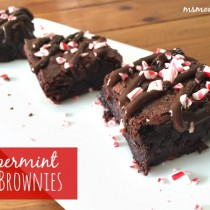 gluten free peppermint brownies