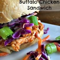 slow cooker buffalo chicken sandwich
