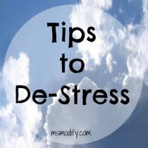 tips to de-stress