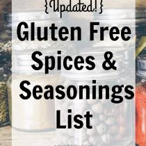 Gluten Free Spices & Seasonings List